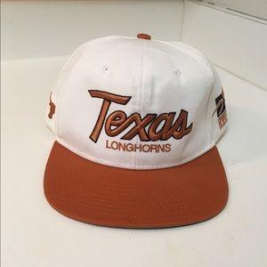 Vtg Texas Longhorns Snapback Hat Cap Adult
